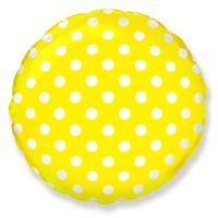 Круглый шар Горошек Желтый