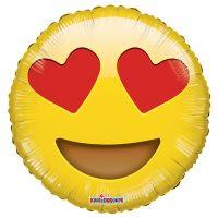 Круглый шар Эмодзи Любовь