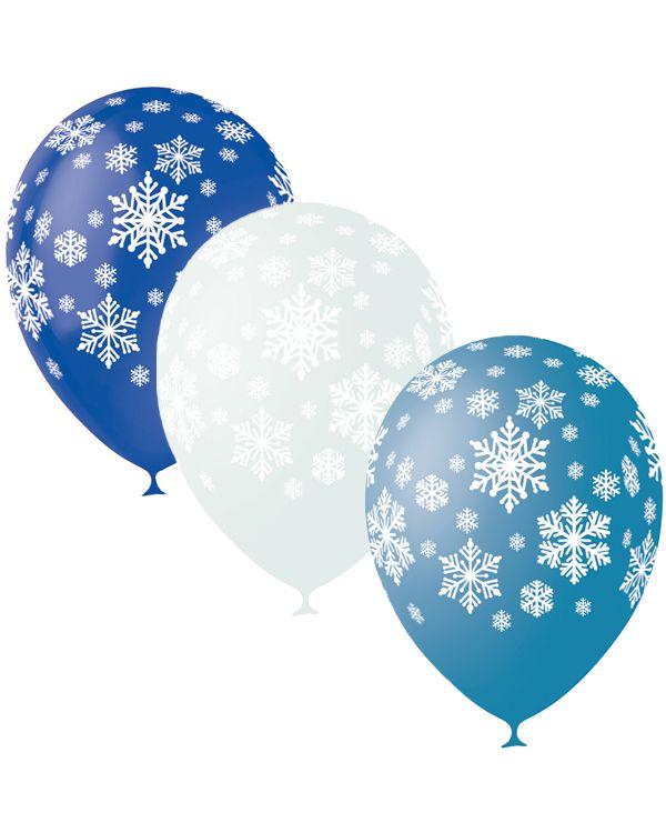 Шарики под потолок Новогодние Снежинки