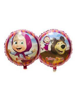 Круглый шар Маша и Медведь