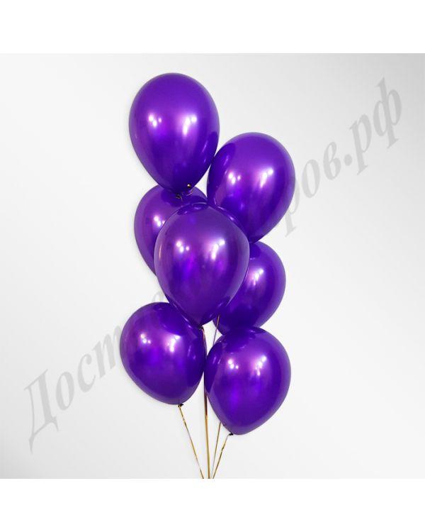 Фиолетовые воздушные шары металлик