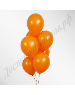 Оранжевые воздушные шары пастель