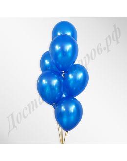Синие воздушные шары металлик