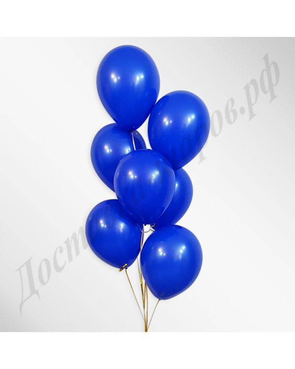 Синие воздушные шары пастель
