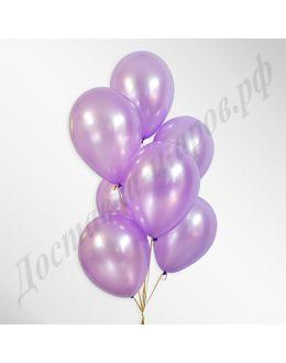 Сиреневые воздушные шары металлик