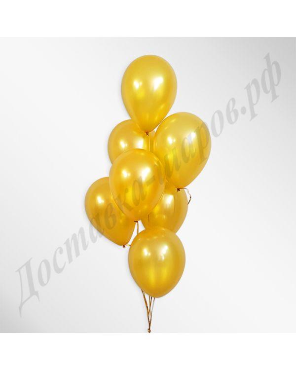 Золотые воздушные шары металлик