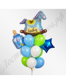 Букет из шаров Лошадка для мальчика