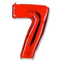 Шар Цифра 7 Красная