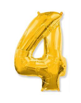 Шар Цифра 4 Золотая