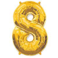 Шар Цифра 8 Золотая