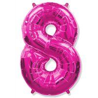 Шар Цифра 8 Розовая