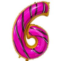 Шар Цифра 6 Пончик
