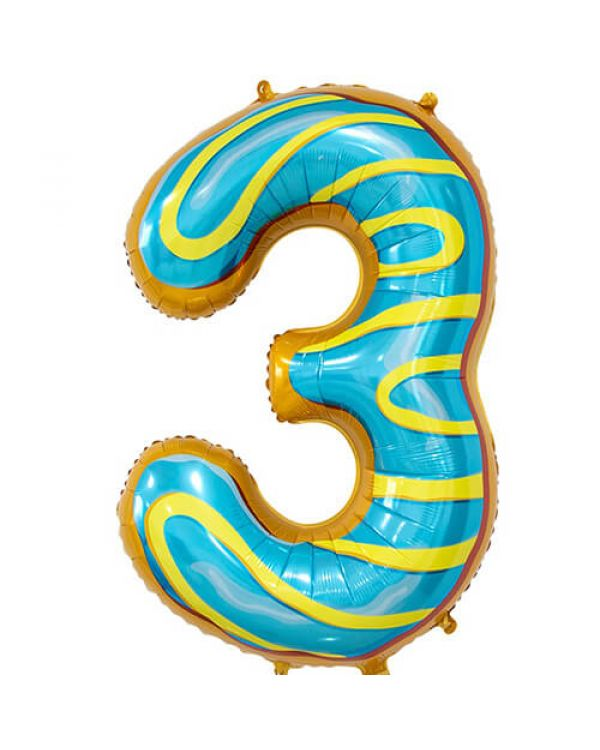 Шар Цифра 3 Пончик