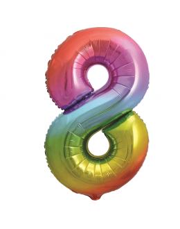 Шар Цифра 8 Радуга