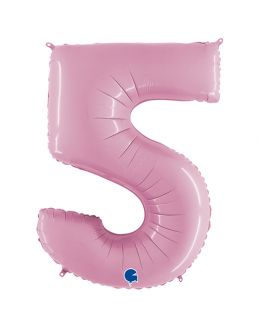 Шар Цифра 5 Розовая