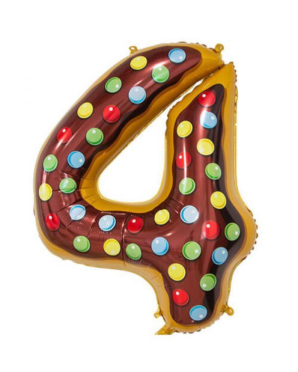 Шар Цифра 4 Пончик
