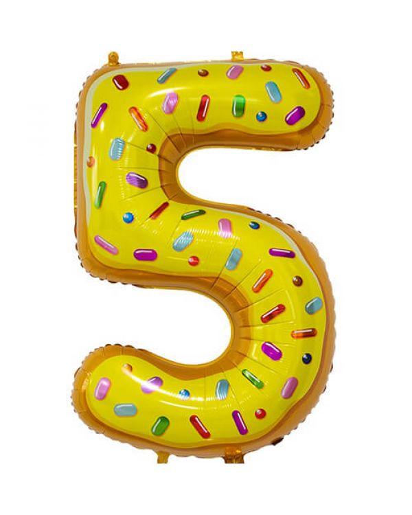 Шар Цифра 5 Пончик