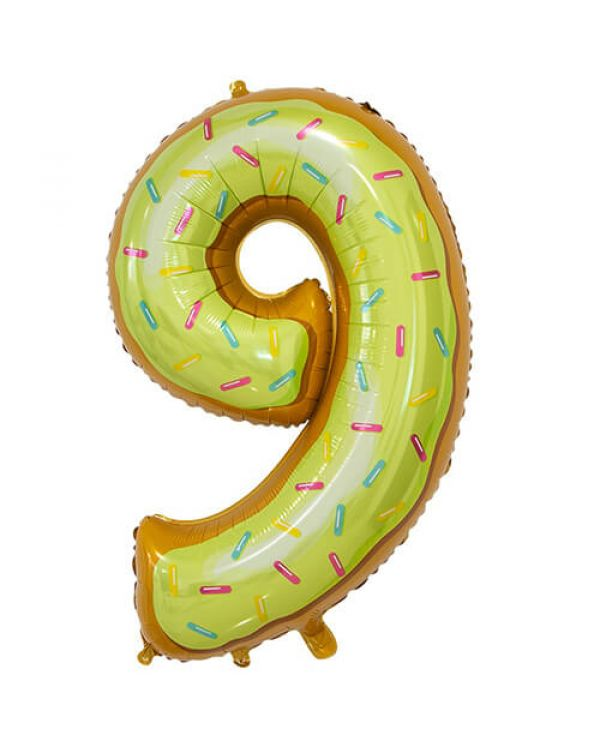 Шар Цифра 9 Пончик
