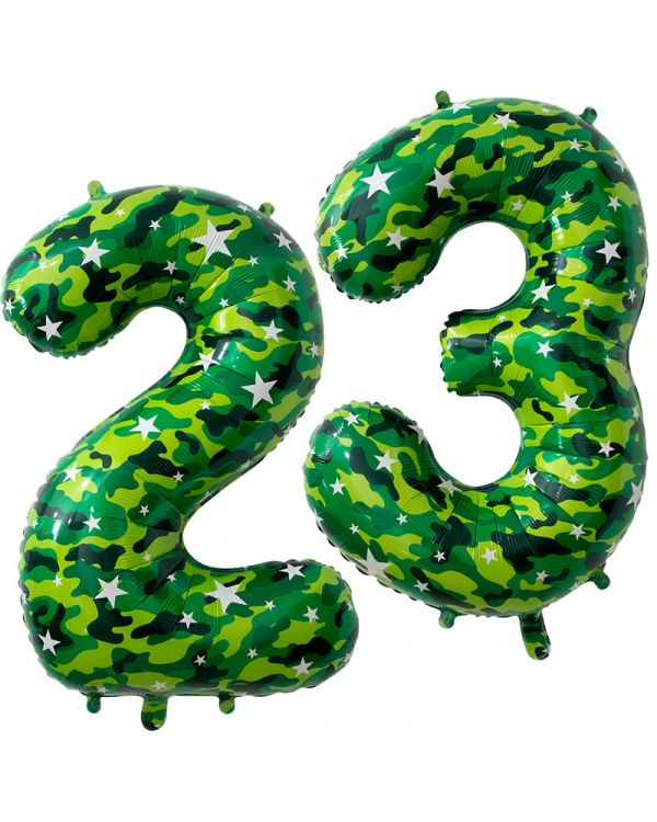 Цифра 23 Февраля Камуфляж