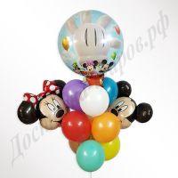 Букет Микки на воздушном шаре