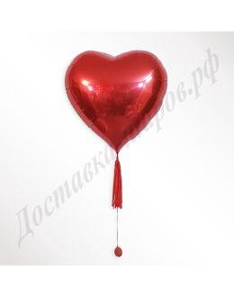 Большое красное Сердце из фольги