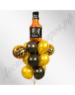 Букет с Днем Рождения Виски