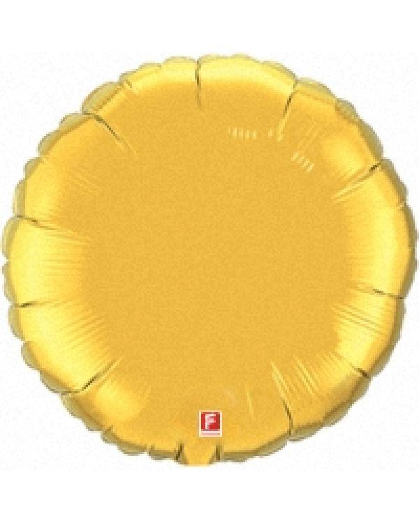 Золотой круг из фольги
