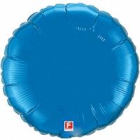 Синий круг из фольги