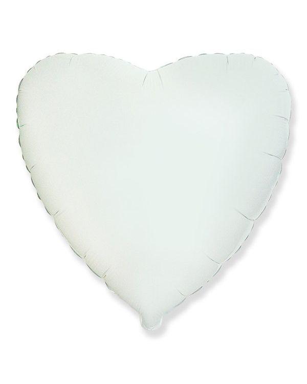 Белое Сердце из фольги