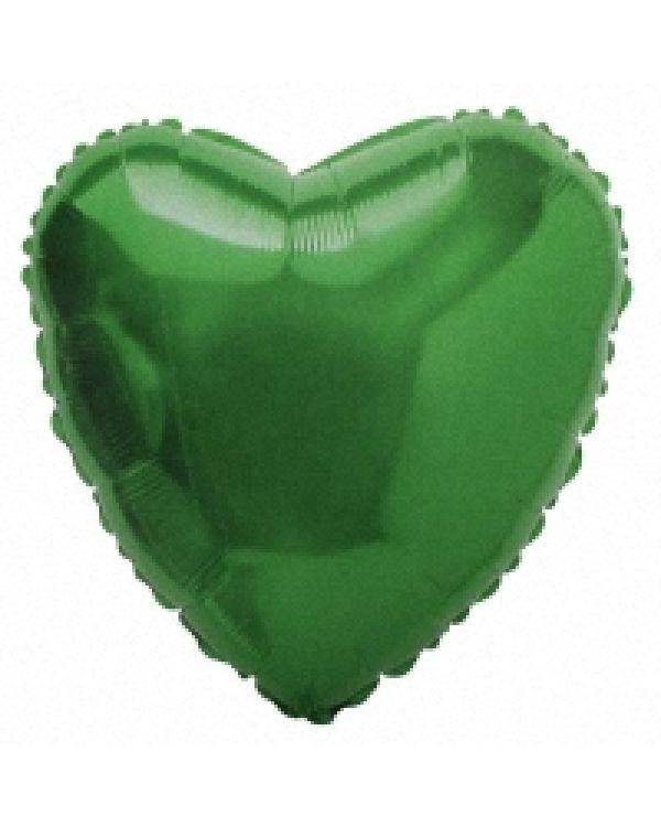 Зеленое Сердце из фольги