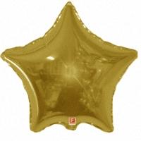 Золотая звезда из фольги