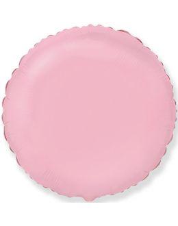 Розовый круг из фольги