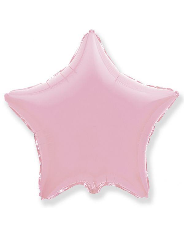 Розовая звезда из фольги