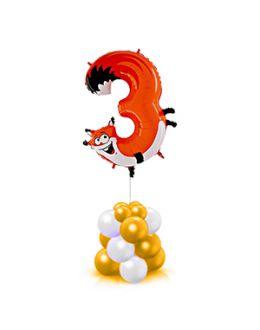 Цифра в виде животного на столбике