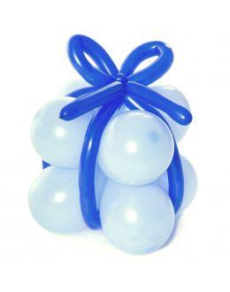 Подарок из шаров (голубой)