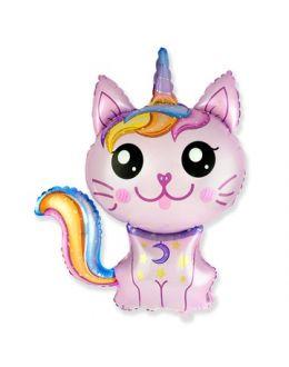 Кот-Единорог розовый