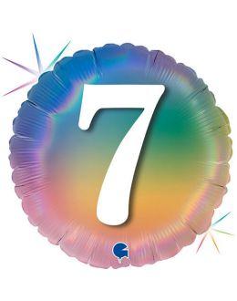 Круг Цифра 7 Радужный