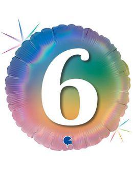 Круг Цифра 6 Радужный