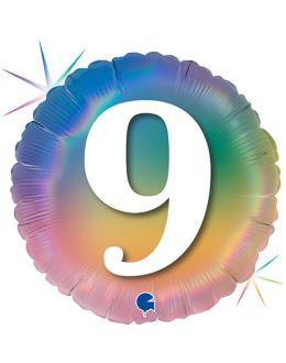 Круг Цифра 9 Радужный