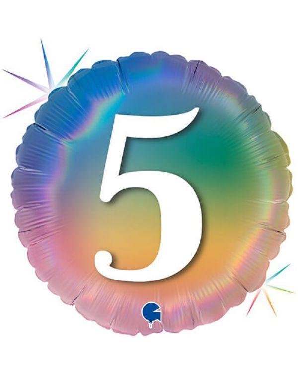 Круг Цифра 5 Радужный