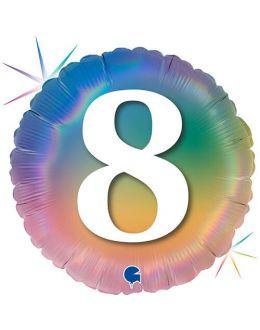 Круг Цифра 8 Радужный