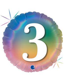 Круг Цифра 3 Радужный