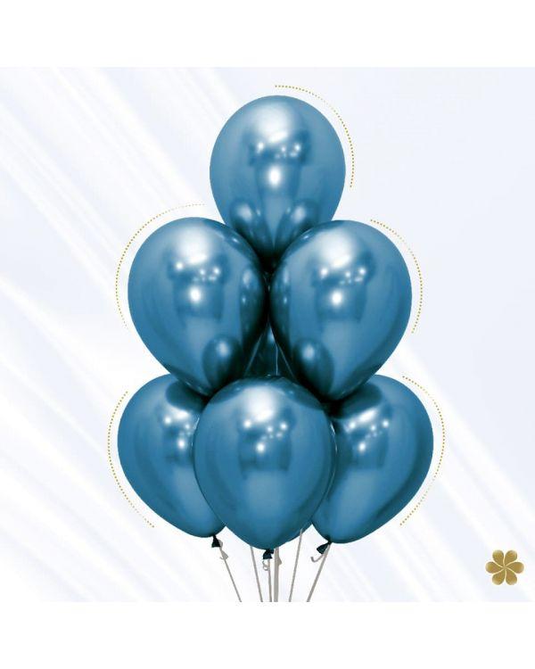 Воздушные шары Хром Синий