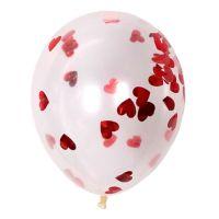Воздушные шары с сердцами конфетти