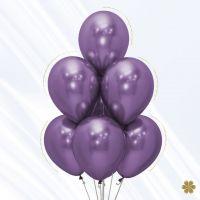 Воздушные шары Хром Фиолетовый