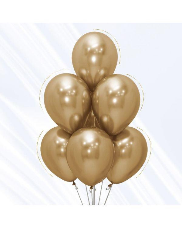 Воздушные шары Хром Золото