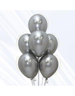 Воздушные шары Хром Серебро