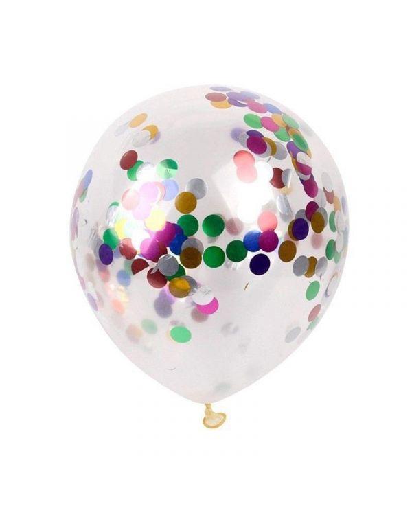 Воздушные шары с ассорти конфетти