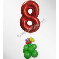 Шар цифра 8 на столбике с декором