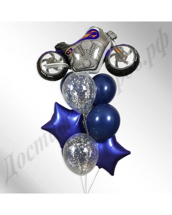 Букет из шаров Мотоцикл